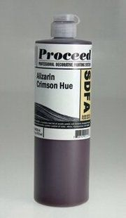 GOLDEN PROCEED SLOW DRY FLUID ACRYLIC ALIZARIN CRIMSON 16OZ