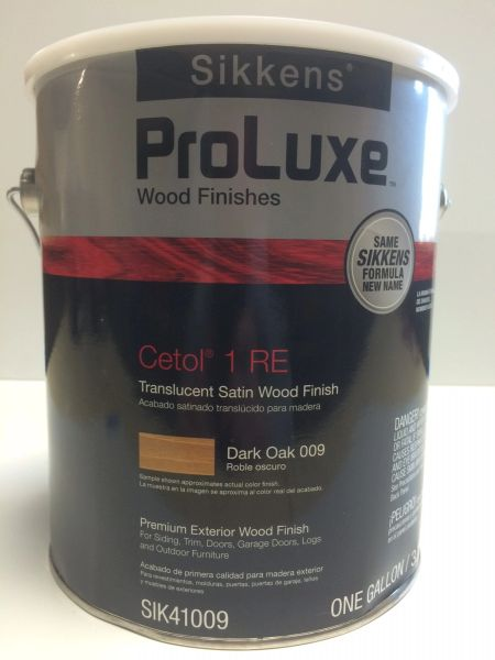 SIKKENS PROLUXE CETOL 1 009 DARK OAK EXTERIOR STAIN GALLON