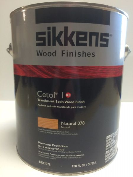 SIKKENS PROLUXE CETOL 1 078 NATURAL EXTERIOR STAIN GALLON
