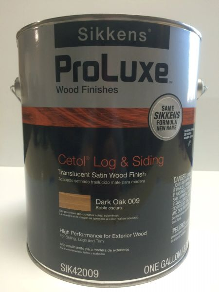 SIKKENS PROLUXE CETOL LOG & SIDING 009 DARK OAK EXTERIOR STAIN GALLON