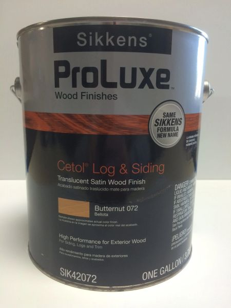 SIKKENS PROLUXE CETOL LOG & SIDING 072 BUTTERNUT EXTERIOR STAIN GALLON
