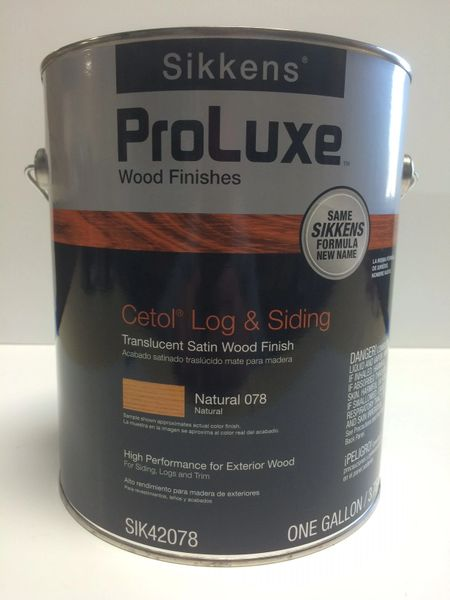 SIKKENS PROLUXE CETOL LOG & SIDING 078 NATURAL EXTERIOR STAIN GALLON