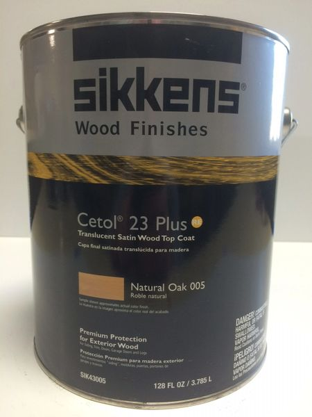 SIKKENS PROLUXE CETOL 23 PLUS 005 NATURAL OAK EXTERIOR STAIN GALLON