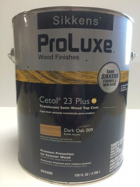 SIKKENS PROLUXE CETOL 23 PLUS 009 DARK OAK EXTERIOR STAIN GALLON