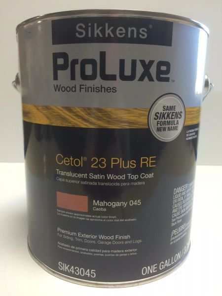 SIKKENS PROLUXE CETOL 23 PLUS 045 MAHOGANY EXTERIOR STAIN GALLON
