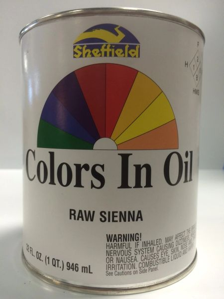 SHEFFIELD BRONZE COLORS IN OIL QT RAW SIENNA