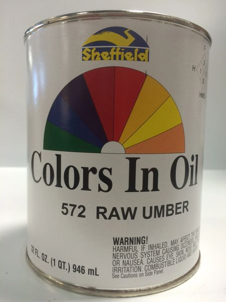 SHEFFIELD BRONZE COLORS IN OIL QT RAW UMBER
