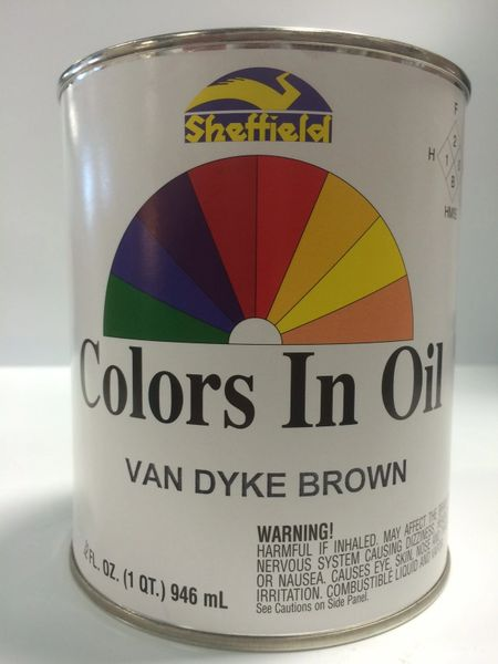 SHEFFIELD BRONZE COLORS IN OIL QT VAN DYKE BROWN