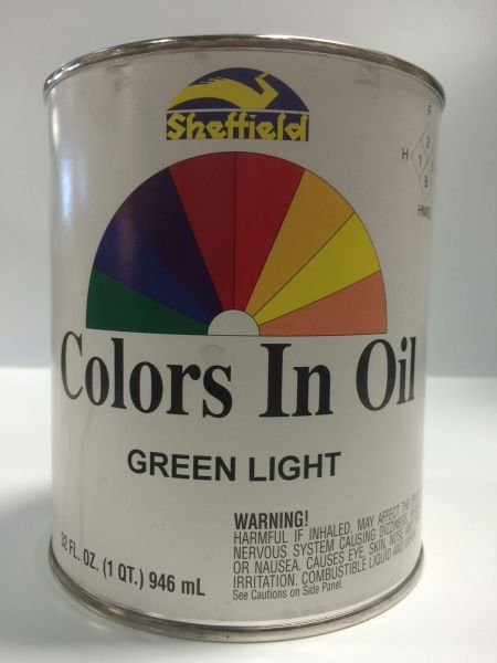 SHEFFIELD BRONZE COLORS IN OIL QT GREEN LIGHT