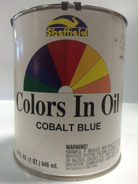 SHEFFIELD BRONZE COLORS IN OIL QT COBALT BLUE