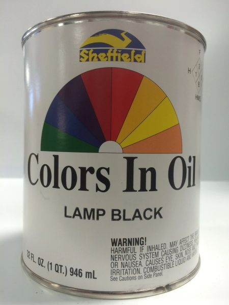 SHEFFIELD BRONZE COLORS IN OIL QT LAMP BLACK