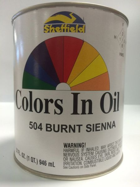 SHEFFIELD BRONZE COLORS IN OIL QT BURNT SIENNA