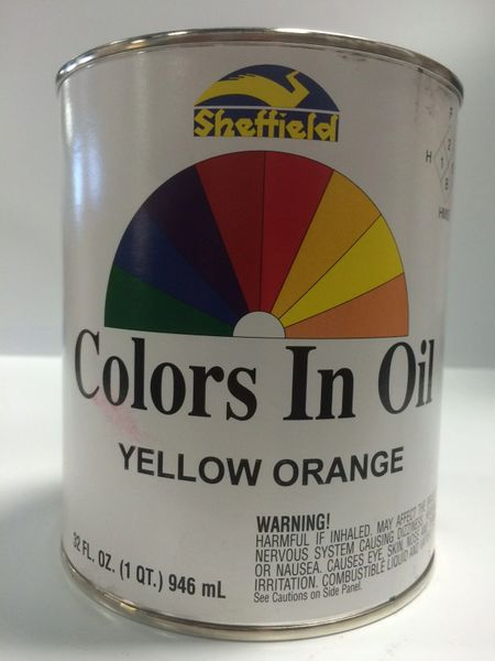 SHEFFIELD BRONZE COLORS IN OIL QT YELLOW ORANGE