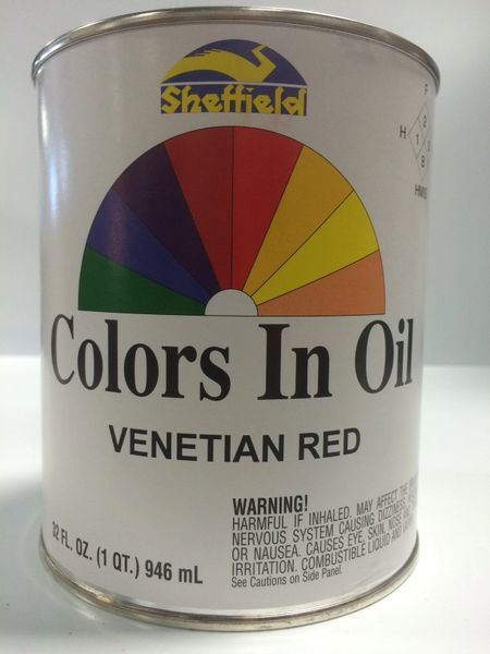SHEFFIELD BRONZE COLORS IN OIL QT VENETIAN RED