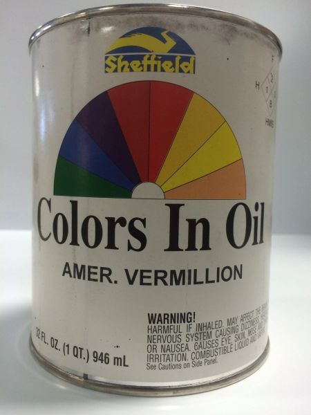 SHEFFIELD BRONZE COLORS IN OIL QT AMERICAN VERMILLION