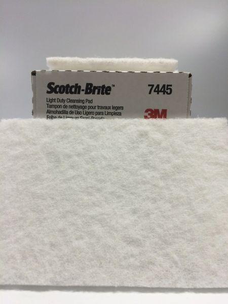 3M 6''X9'' SCOTCH BRIGHT LIGHT CLEANSING PAD 7445