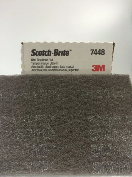 3M 6''X9'' SCOTCH BRIGHT FINE FINISHING HAND PAD 7448