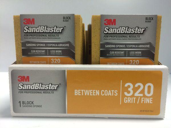 3M SANDBLASTER SANDING SPONGE 320 GRIT 20907-320