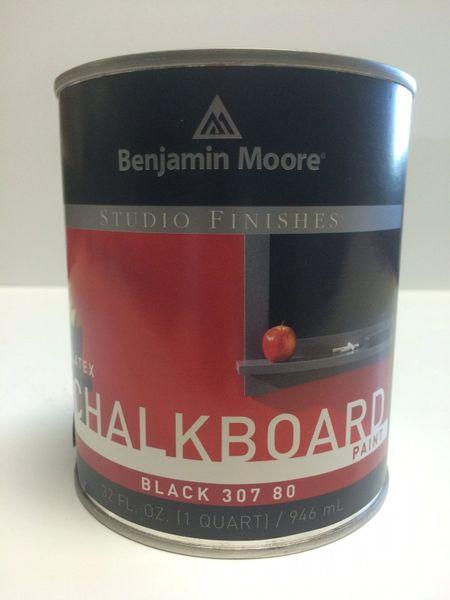 BENJAMIN MOORE STUDIO CHALKBOARD PAINT BLACK QUART 3078004