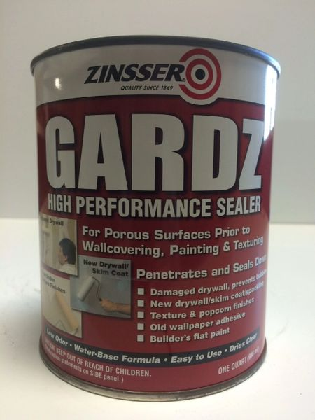ZINSSER GARDZ DRYWALL SEALER CLEAR QUART 02304