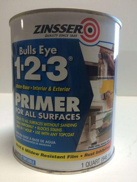 ZINSSER BULLSEYE 123 WHITE PRIMER QUART 02004