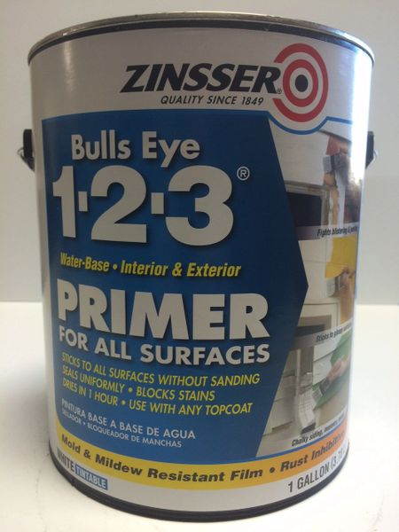 ZINSSER BULLSEYE 123 WHITE PRIMER GALLON 02001