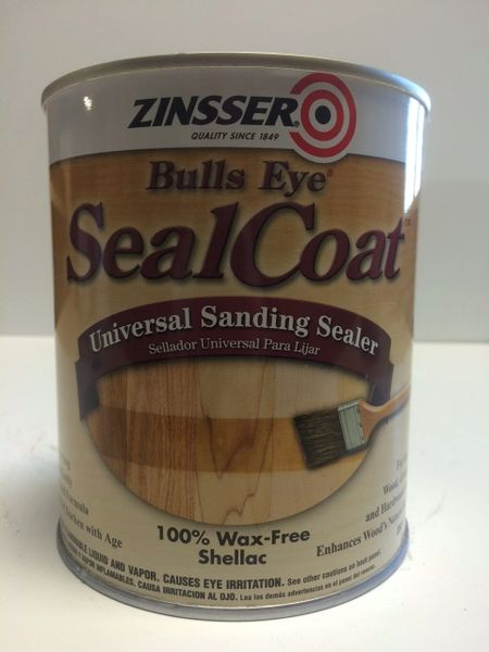 ZINSSER SEALCOAT UNIVERSAL BRUSHABLE SANDING SEALER QUART 00854