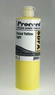 GOLDEN PROCEED SLOW DRY FLUID ACRYLIC HANSA YELLOW LIGHT 16OZ