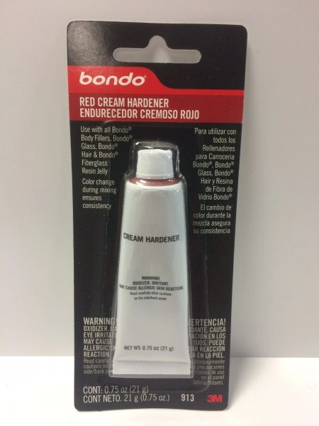3M BONDO RED CREAM HARDENER .75 OZ 00913