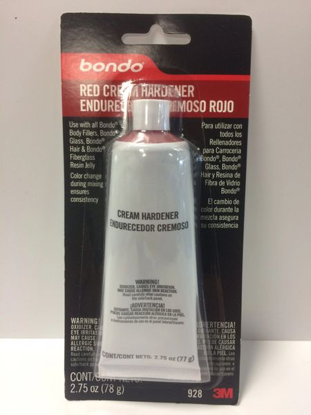 3M BONDO RED CREAM HARDENER 2.75 OZ 00928
