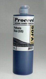 GOLDEN PROCEED SLOW DRY FLUID ACRYLIC PHTHALO BLUE 16OZ