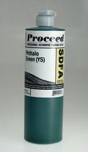 GOLDEN PROCEED SLOW DRY FLUID ACRYLIC PHTHALO GREEN YS 16OZ