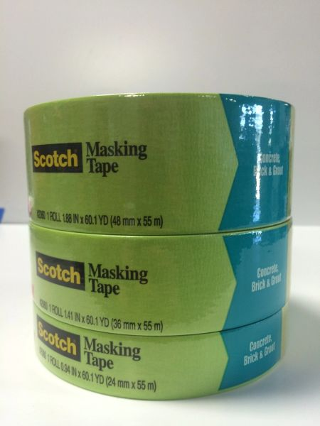 3M GREEN MASKING TAPE (HARD TO STICK SURFACES) 2060 1''