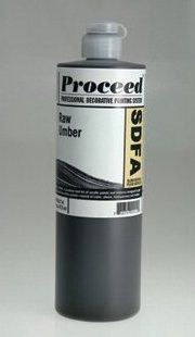 GOLDEN PROCEED SLOW DRY FLUID ACRYLIC RAW UMBER 8OZ