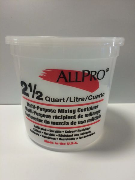 ALL PRO MIX N MEASURE 2 1/2 QT WITH LID