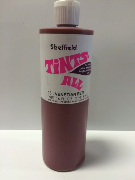 SHEFFIELD BRONZE TINTS ALL 4502 VENETIAIN RED PINT