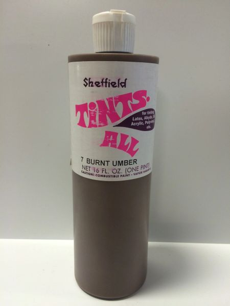 SHEFFIELD BRONZE TINTS ALL 4582 BURNT UMBER PINT