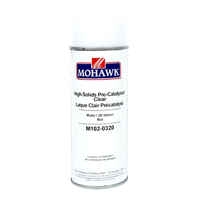 MOHAWK HIGH SOLIDS PRE-CATALYZED LACQUER CLEAR AEROSOL CAN M102-XXXX