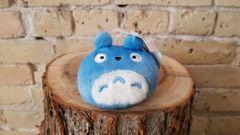 Blue Totoro keychain