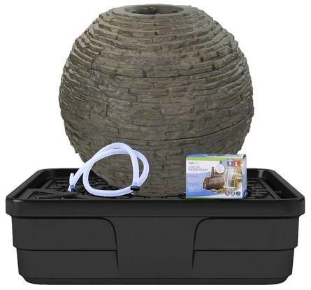 Medium Stacked Slate Sphere Landscape Fountain Kit ...