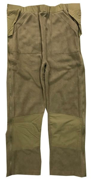 FLEECE PANT/LINER, 499 COYOTE TAN, GEN II ECWCS