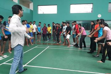laughter yoga at gopichand badminton academy