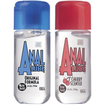 CalExotics Anal Lube Water Based Original or Cherry 6oz