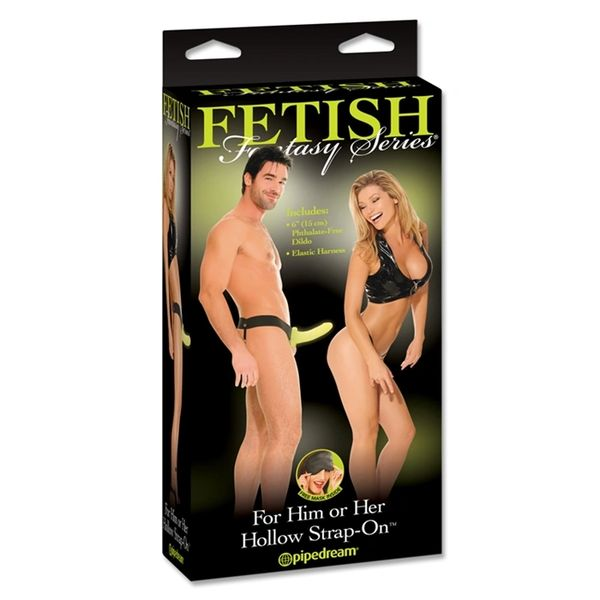 "For Him or Her Hollow Strap-On 6"" FFS (3 Colours)"