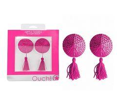 Pink Rhinestone Nipple Tassels