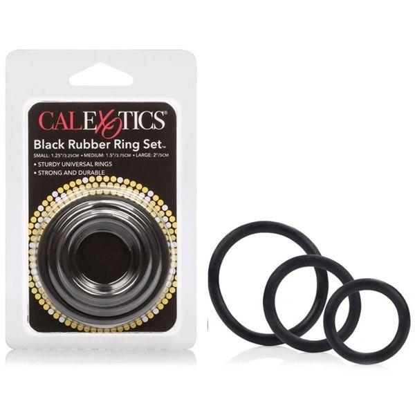 Black Rubber Ring Set