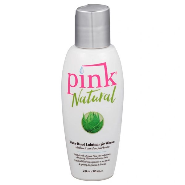 Pink Natural Water-Based Lubricant for Women (2 Sizes)
