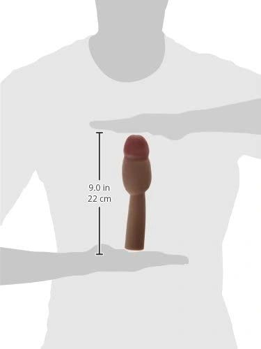 """Cyberskin 4"""" Vibrating Xtra Think Penis Extension"""