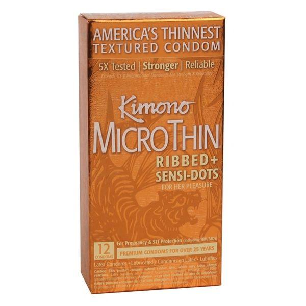 Kimono Micro Thin Ribbed& Sensi-Dots (12 Pack)