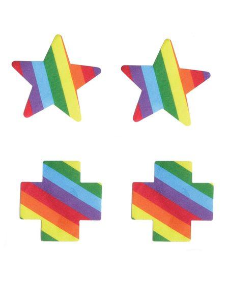 Cross and Star Pride Nipple Pasties
